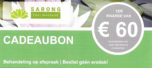 Sarong Thai Massage- Cadeaubon €60 - voorzijde